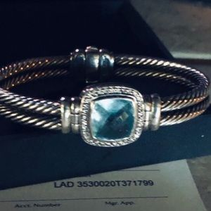 Vintage David Yurman Blue Topaz Bracelet